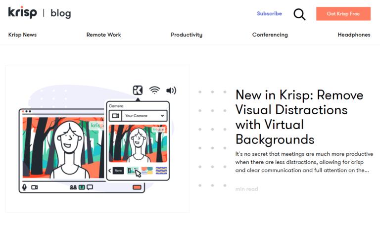 Krisp Just Launched Virtual Backgrounds
